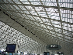 Charles De Gaulle airport ceiling