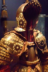 Armor of Infante Luis Prince of Asturias Steel blued and gilt gilt brass silk cotton metallic yard paper French dated 1712 CE (1) - by mharrsch