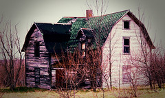 old house (Adam FLiK) Tags: old house digital photoshop nikon cross process processed fallingapart d1x naturesfinest mywinners diamondclassphotographer flickrdiamond flikproductionscom adamflikkema