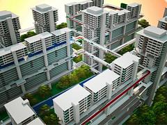 IFHP.Iconic Image (VotreX) Tags: singapore render bridges housing hdb corridors