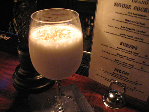 A Ramos Gin Fizz at Seven Grand