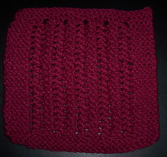 Simple Garter Stitch Lace Square