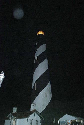 Saint Augustine Lighthouse at night