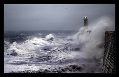 Storm at Tynemouth (Reworked) (hoho0482) Tags: sea lighthouse storm tynemouth coastuk