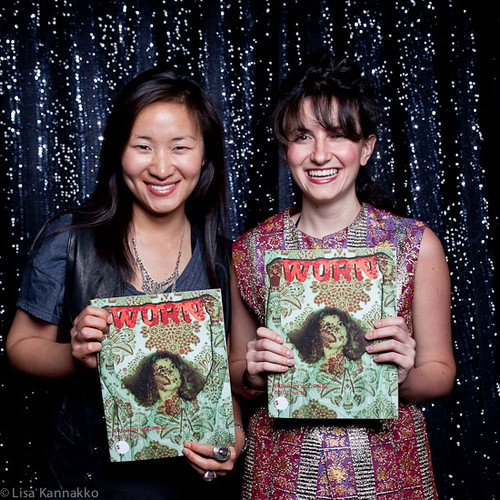 Steph & Friend with magazine