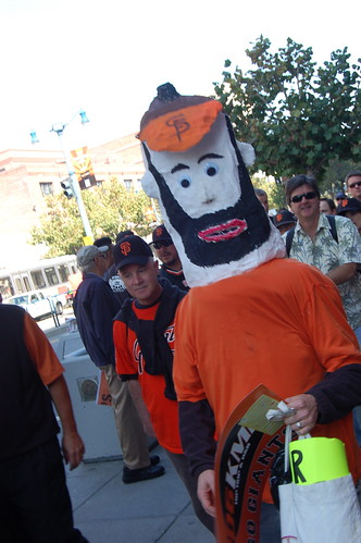 Phillies v. Giants: Brian Wilson Giant Head