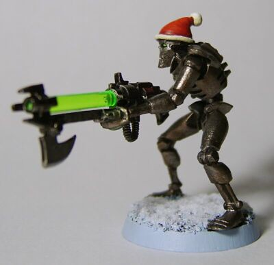 The First Christmas Themed Necron I Made in 2008