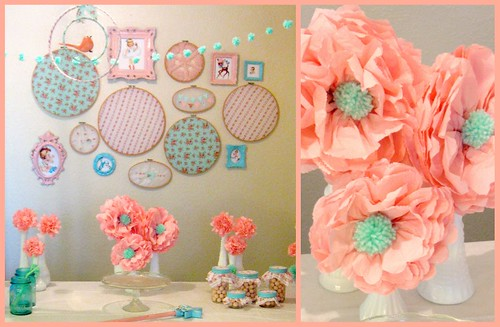 vintage party with napkin flowers with MADE tutorial