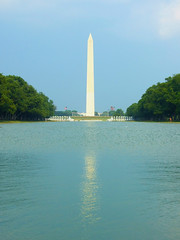 Reflecting Monument (Mikepaws) Tags: summer usa monument architecture america mall dc washington unitedstates district columbia national obelisk washingtonmonument reflectingpool 2007 captial