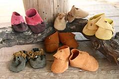 מוקסינים עבודת יד לתינוקות