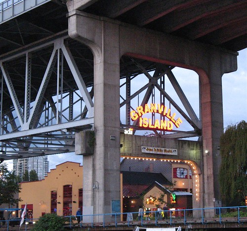 Entrance to Granville Island at Dusk