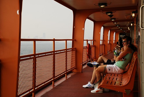 A Young Couple Rides the Staten Island Ferry 1