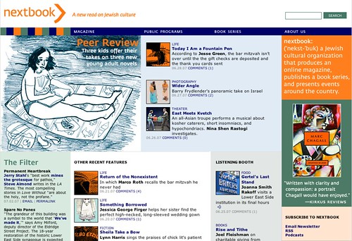 Nextbook.org home page, July 2, 2007: Beach