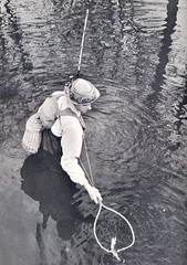 Michigan Fishing Trout 1950's (UpNorth Memories - Donald (Don) Harrison) Tags: vintage fishing women stream michigan memories salmon conservation trout upnorth benzie upnorthmemories donharrison