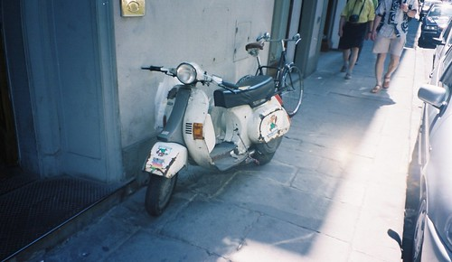 old used loved hated (vespa scooter)