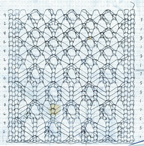 Bird's Eye Pattern and Spiderling Lace Pattern