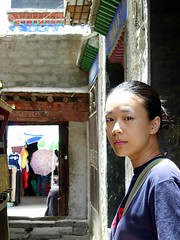 In a small temple on the Ramoche road, Lhasa, Tibet (Manjushri) Tags: friends moi tibet lhasa 我 西藏 lhassa 拉萨