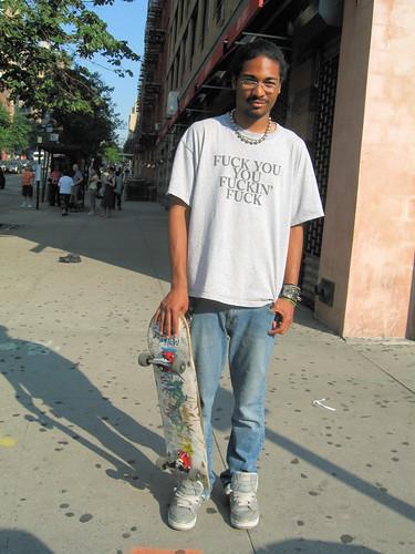 New Yorker Skate boarder
