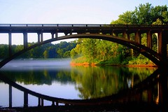 A Perfect Reflection (~M~Chelle & her view***) Tags: bridge usa reflection nature beauty natural awesome mo missouri ozarks forsyth themoulinrouge supershot taneycounty shadowrockpark bransonarea bansonarea ~m~chelle trilakesarea