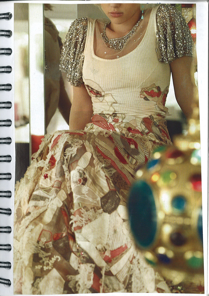 Inspiration book - Applique dress McQueen