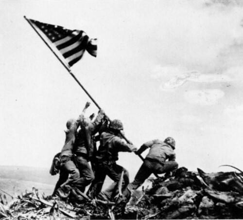 Joe Rosenthal - Raising the Flag on Iwo Jima (1945) by luvi.