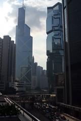 Afternoon shadows - the Bank of China and the Lippo Centre (EmmaJG) Tags: china hongkong 2006   bankofchinatower xiang lippocentre  xianggang boctower