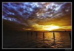 The Afterglow (Dashuki Mohd) Tags: sunset red sea sky sun reflection clouds landscape lights evening ray malaysia 1022mm klang canonefs1022mmf3545usm abigfave canon400d worldbest tanjungharapan anawesomeshot infinestyle