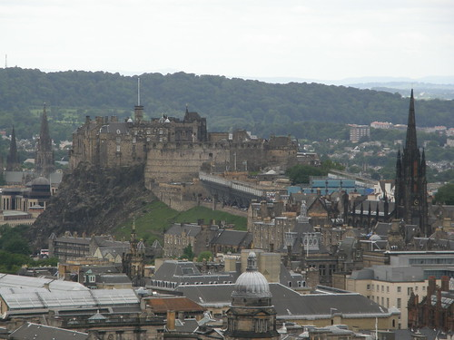Castle of Edinburgh from further away