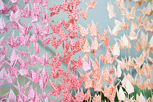diy-wedding-paper-cranes