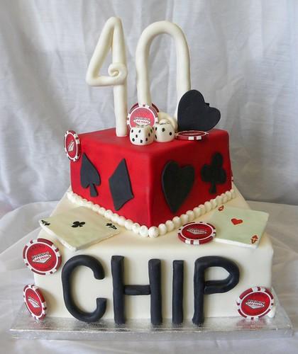 40th Poker Cake