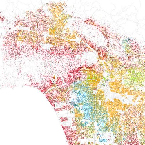carte ségrégation spatiale Los Angeles