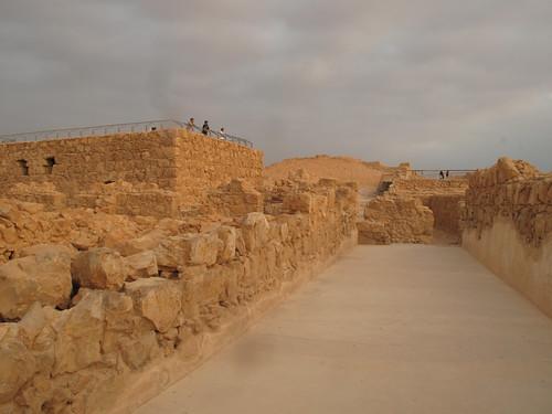 Masada, cloudy