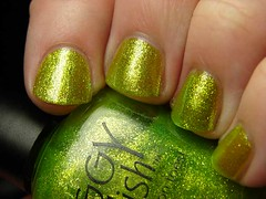 Piggy Polish GREEN and Bear It (PuckLizardRN) Tags: green nailpolish shimmer piggypolish greenandbearit
