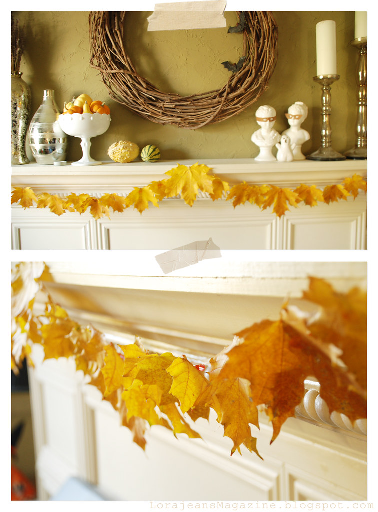 fall garland by Lorajean's Magazine