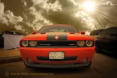 Dodge Challenger | SRT8 (Tareq Abuhajjaj | Photography & Design) Tags: sky orange sun cars car sport race speed dark photography design photo high nice nikon flickr power top gear american saudi arabia dodge manual carbon rims riyadh v8 challenger  ksa   tareq    alreem    platinumphoto d700      foilacar  tareqdesigncom tareqmoon tareqdesign  abuhajjaj