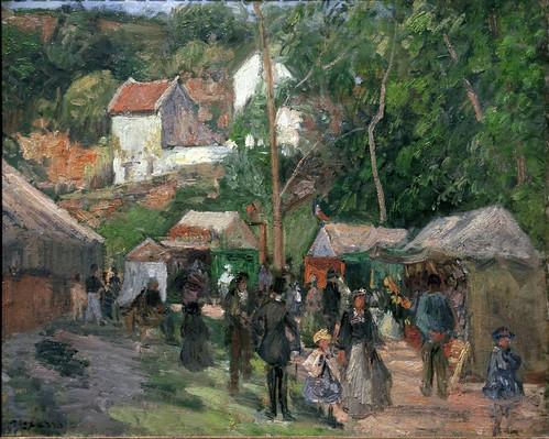 Camille Pissarro - Festival at L'Hermitage 1876