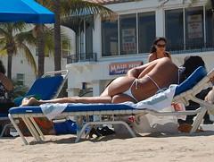 Sexy Chica (pinotsphotos1) Tags: sun hot sexy ass beach girl chica butt tan bikini thong fortlauderdale hottie tanning sunning