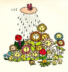 群衆絵_お花むーのシャワー
