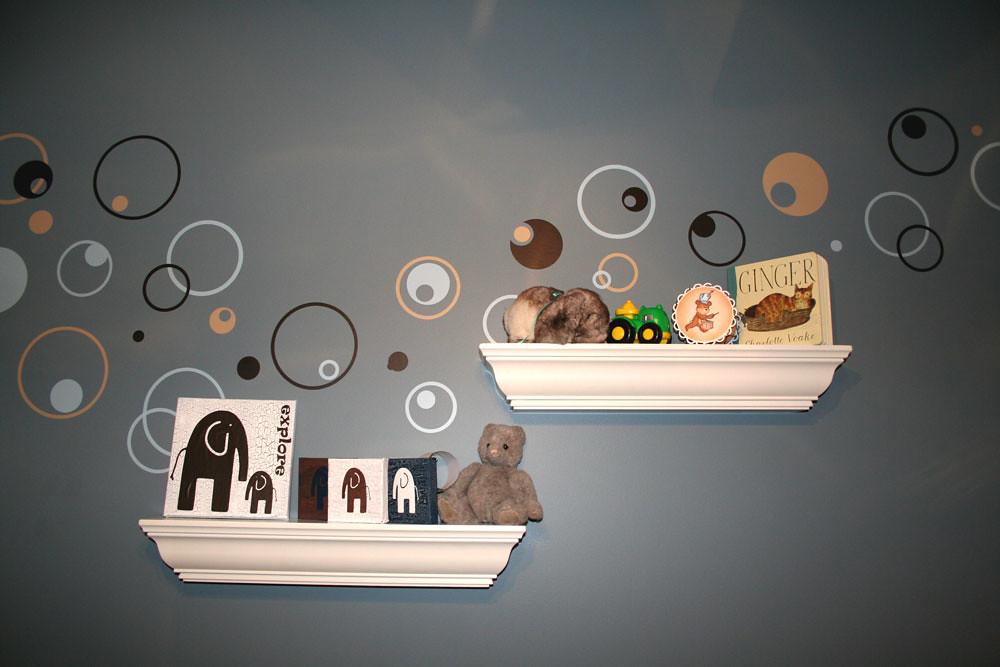Nursery Shelves, Canvas, walls
