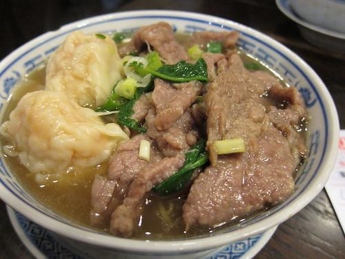 wonton & beef noodle