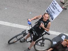 Protest biker