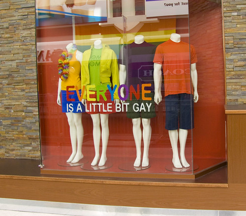 everyone is a little bit gay. The Pride week display of some store in the .