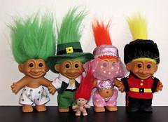 Troll Dolls (sciencensorcery) Tags: toys dolls russ nineties 90s trolls