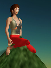 OpenSim Ruth: Sitting on mountain