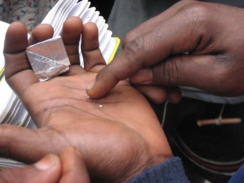 diamonds from near Obenge