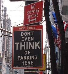 Don't even think of parking here