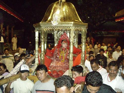 Kumari Devi en el festival de Indra