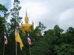 buddah (headsonfire) Tags: trees temple golden flag buddah siam tailand