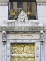 Detail of Entrance at 100 Broadway by chaostrophy, on Flickr