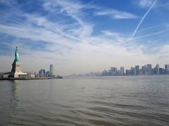 Manhattan & Statue of Liberty (Ella Cotter Photography) Tags: nyc newyorkcity vacation usa holiday america manhattan bluesky hudsonriver statueofliberty libertyisland ellacotter